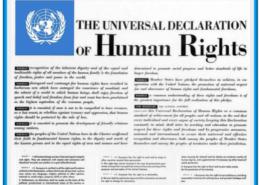 Dichiarazione universale Diritti Uomo_The_universal_declaration_of_human_rights_10_December_1948_logo azzurro e bordo azzurro_def